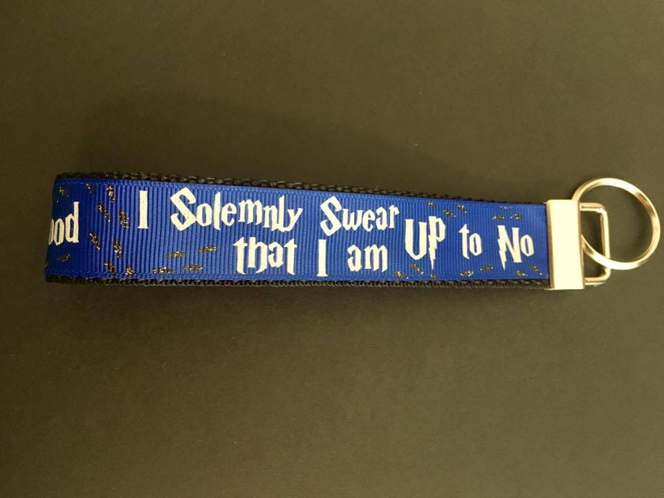 HARRY POTTER UP TO NO GOOD  LANYARD WITH METAL CHARM AND KEY HOLDER
