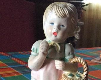 Vintage French ceramic little girl