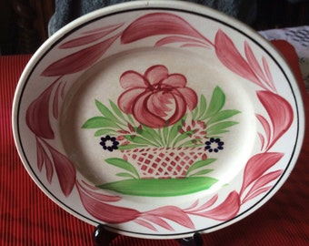 Set of 2 plates french vintage decorative room