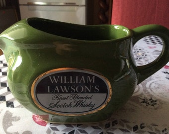 William Lawson's advertising pitcher made in Italy vintage ceramic