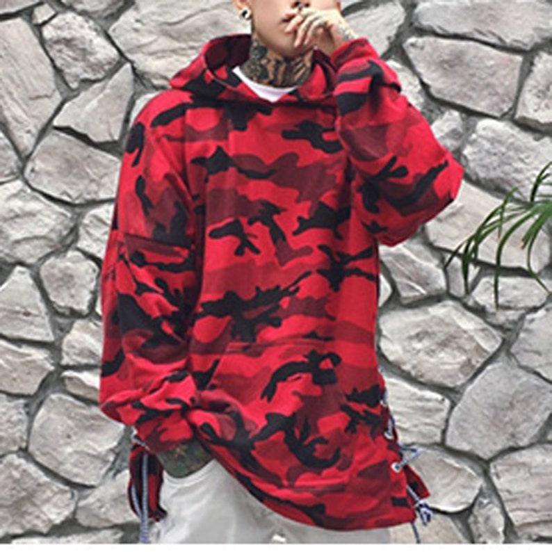 ea82b98e1a2e Oversized Camo Hoodies For Men Camouflage Fashion