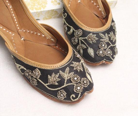Indian Bridal Wedding Black Shoes