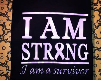 I AM STRONG, I am a survivor, V-Neck T-shirt