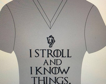 I stroll and I know things, V-Neck
