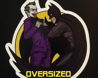 Oversized Batman Vs. Joker Magnet
