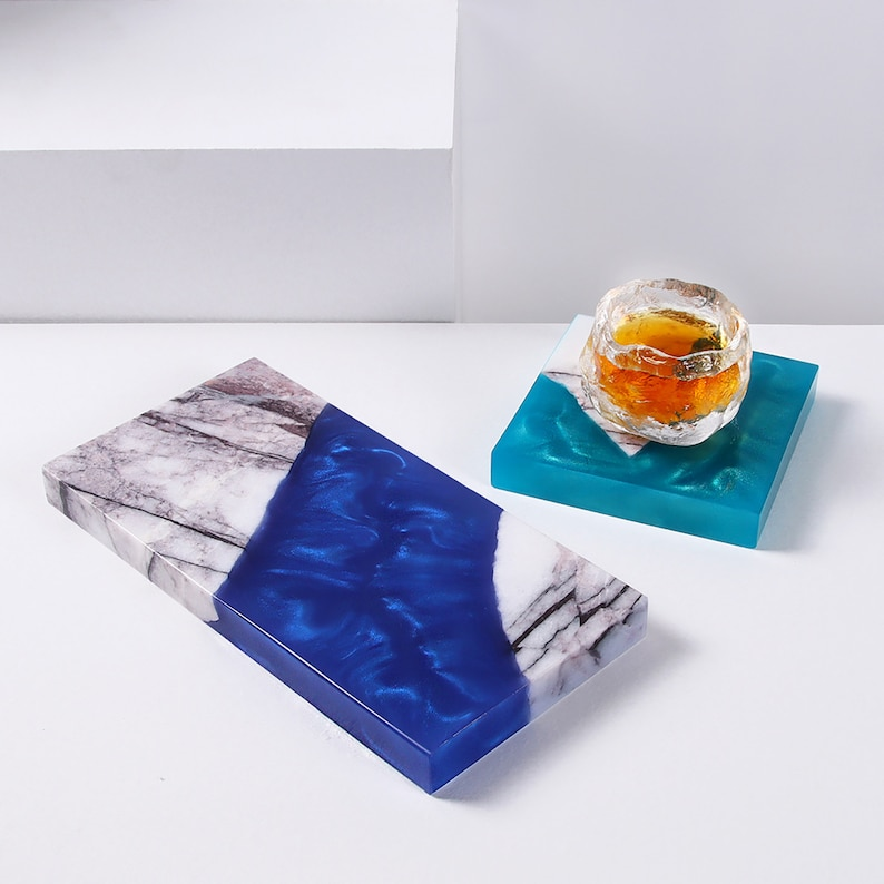 Resin Marble Coaster Personalized Coffee Cup Furniture Decoration Art