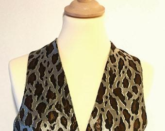 Vintage 1980's leopard man's vest