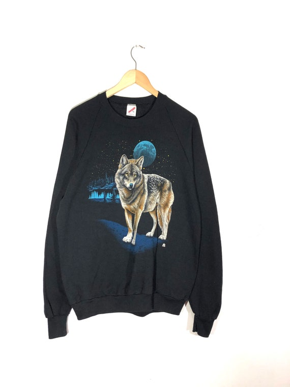 Wolves All Over Print Jerzees Sweatshirt