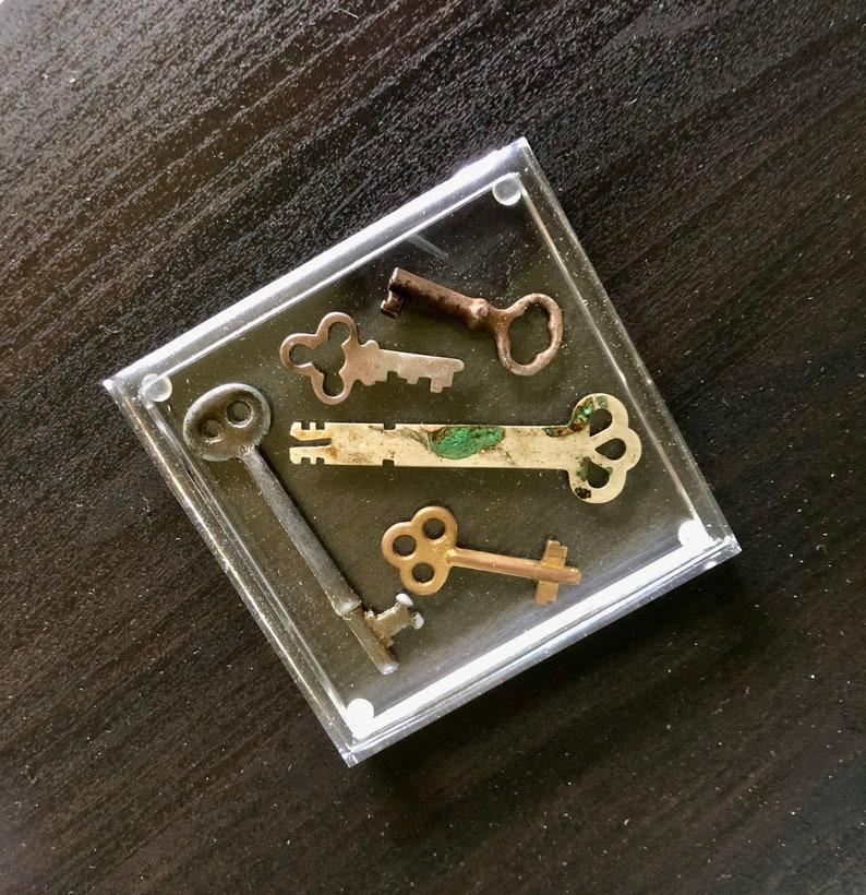 key acrylic coasters