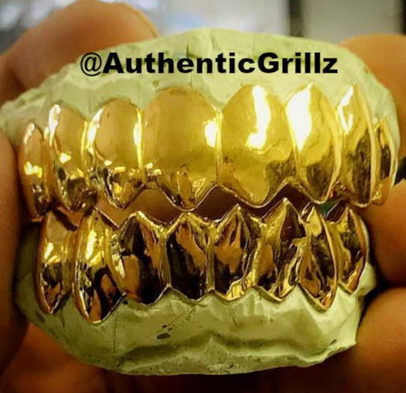 Authentic Custom Shark Teeth Grill in either Silver925 10KT