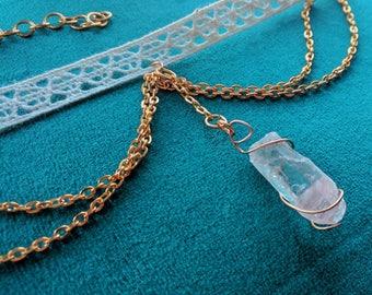 Lace Crystal Dangle Choker Necklace