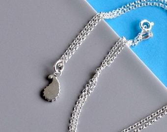 Silver Paisley Pendant