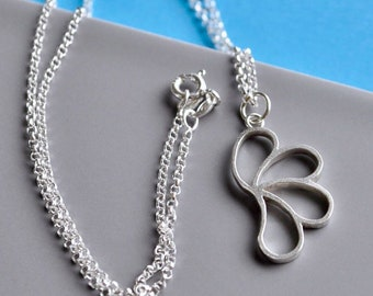 Stylised Silver Paisley Pendant, Scottish Jewellery