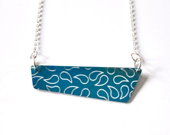 Colourful Aluminium Pendant Necklace