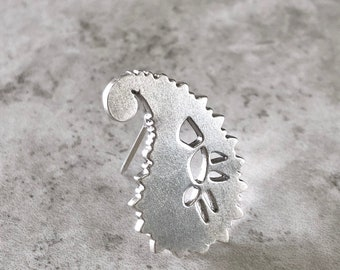 Sterling Silver Paisley Brooch