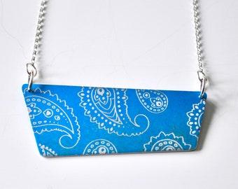 Blue Aluminium Pendant