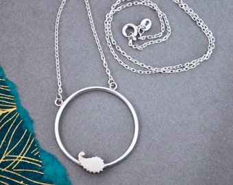 Silver Paisley Hoop Pendant