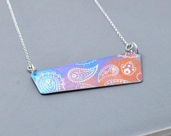 Colourful Aluminium Pendant Necklace