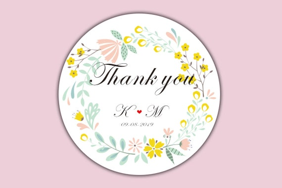 Packing Stickers Wedding Favor Stickers Thank You Stickers Etsy