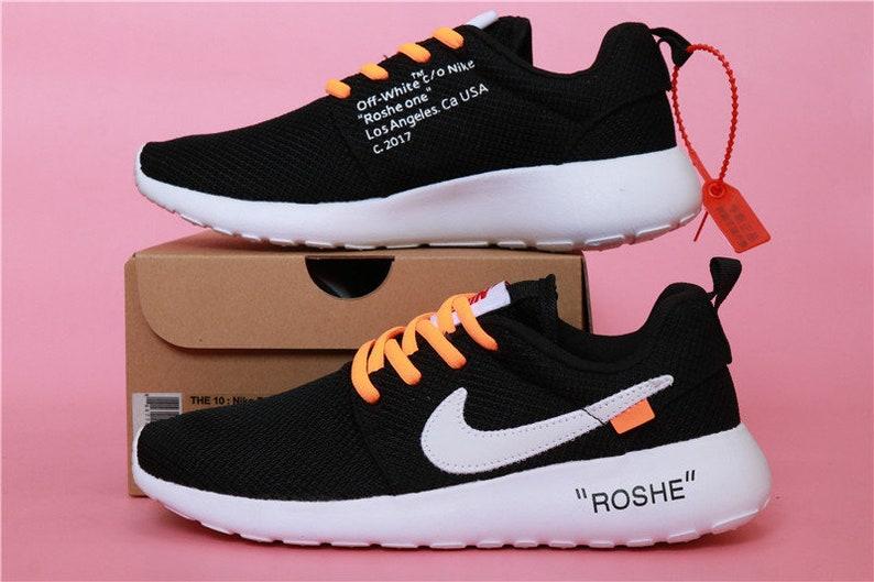 wholesale dealer 66483 f7f5d Custom Nike Roshe One Off White Run athletic running shoes