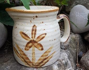 Vintage studio pottery creamer, milk jug, pottery small pitcher, pottery creamer