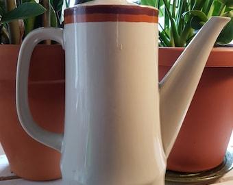 Vintage ceramic pot, ceramic tea pot, coffee maker, tea maker, ceramic dishes, Haniwa Stone 1960 1970