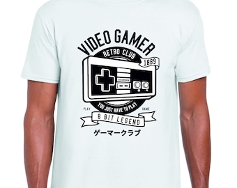 e4c8bb7783e 8 Bit Legend Retro Video Gaming Design 100% Cotton T-Shirt - Choice of  Colours and Sizes