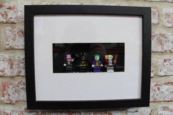 Batman & Villains Minifigure Frame Penguin Batman Joker   Etsy