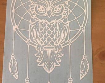 Owl Dreamcatcher Decal