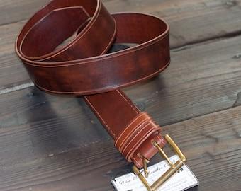 3ff37104f1e5 Leather Belt, Full Grain Leather Belt, Brown Leather Belt, Mens Leather Belt,  Womens Leather Belt, 50mm - 2 inch, solid brass buckle