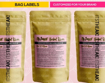 Bag Labels – Customized For Your Brand – Bag Stickers Bag Sticker Product Labels Product Label Design Blend Bag Label Design Brand Packaging