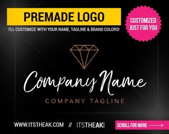 Premade Text Logo Design Modern Name Hair Extensions Hair | Etsy