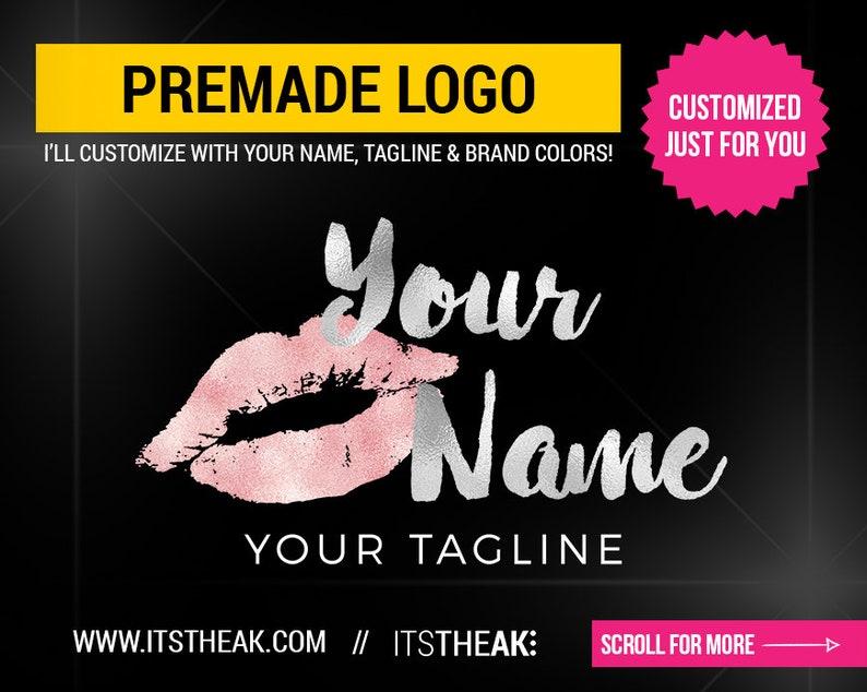 Premade Lips Logo – Glam Makeup Artist Hair Business Lash Logo Branding  Simple Cute Cosmetic Logo Kiss Lipstick Artist Lip Logo Beauty Luxe