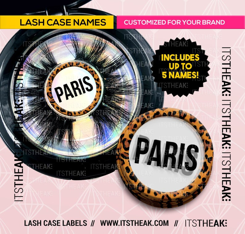 Eyelash Name Labels – Customized With Your Logo – Lash Case Labels Eyelash  Extension Packaging Labels Lashes Eyelashes Lash Name Stickers