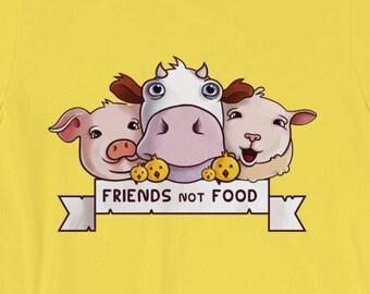 Vegan Shirt - Cute Friends Not Food