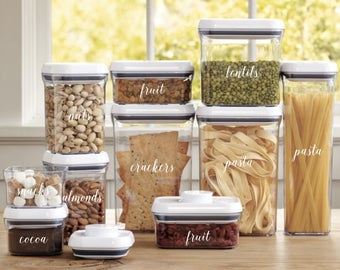 Pantry Container Labels | Kitchen Container Labels | Custom Vinyl Stickers | Pantry Organization