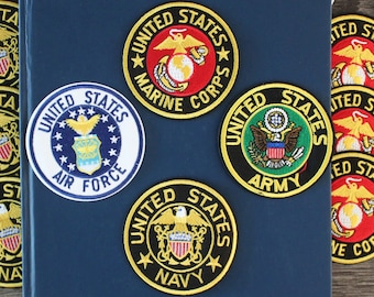 United States military badge iron on patches, navy, marine corps, air force, army, embroidered patch, iron on hat, jacket, Jeans, DIY
