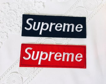 supreme wording iron on patch ,embroidered patch ,jacket patch ,wording patch ,denim patch, hats patch, DIY