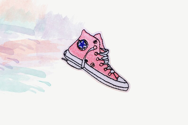 4df246155b80 Pink sneaker patch converse patch shoes patch iron on patch