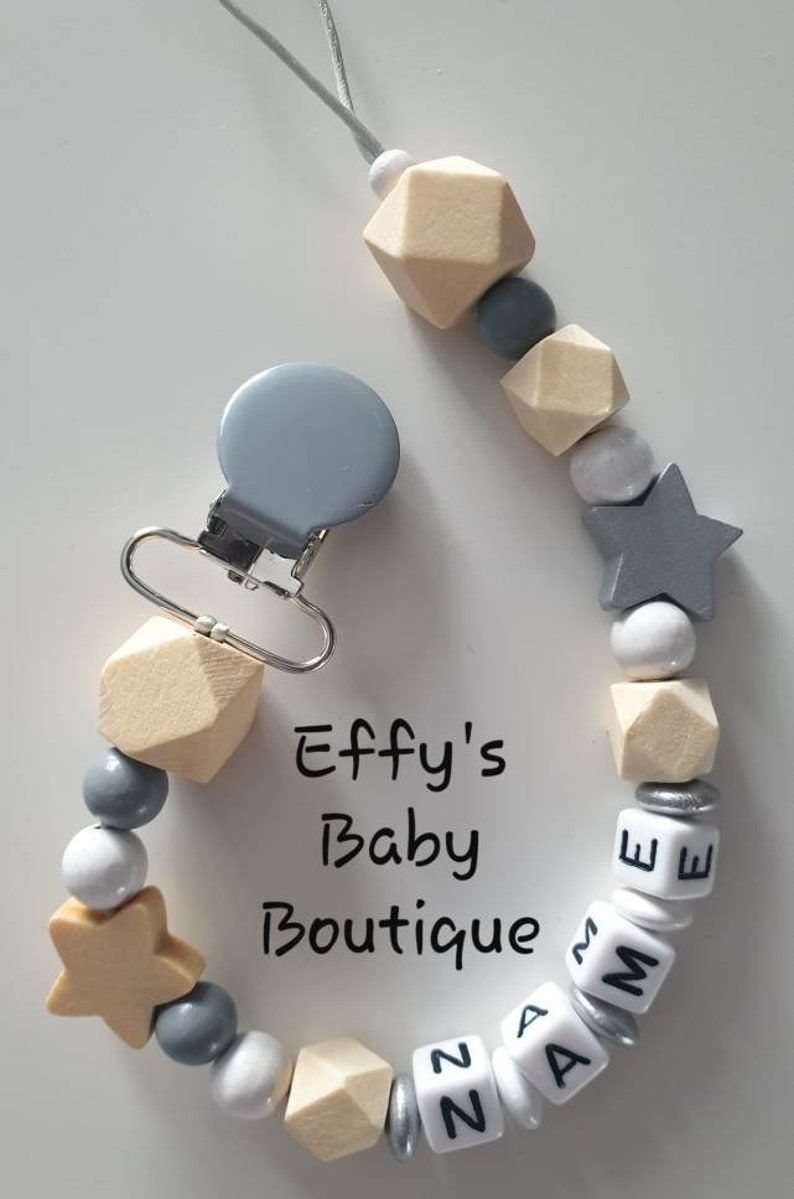 Plastic or metal clips 3 For £6 Personalised names Dummy clips Gifts