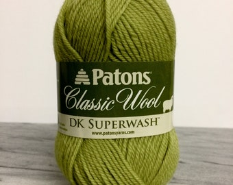 Patons Classic Wool DK Yarn - Apple Green - For Crochet, Knitting & Crafting