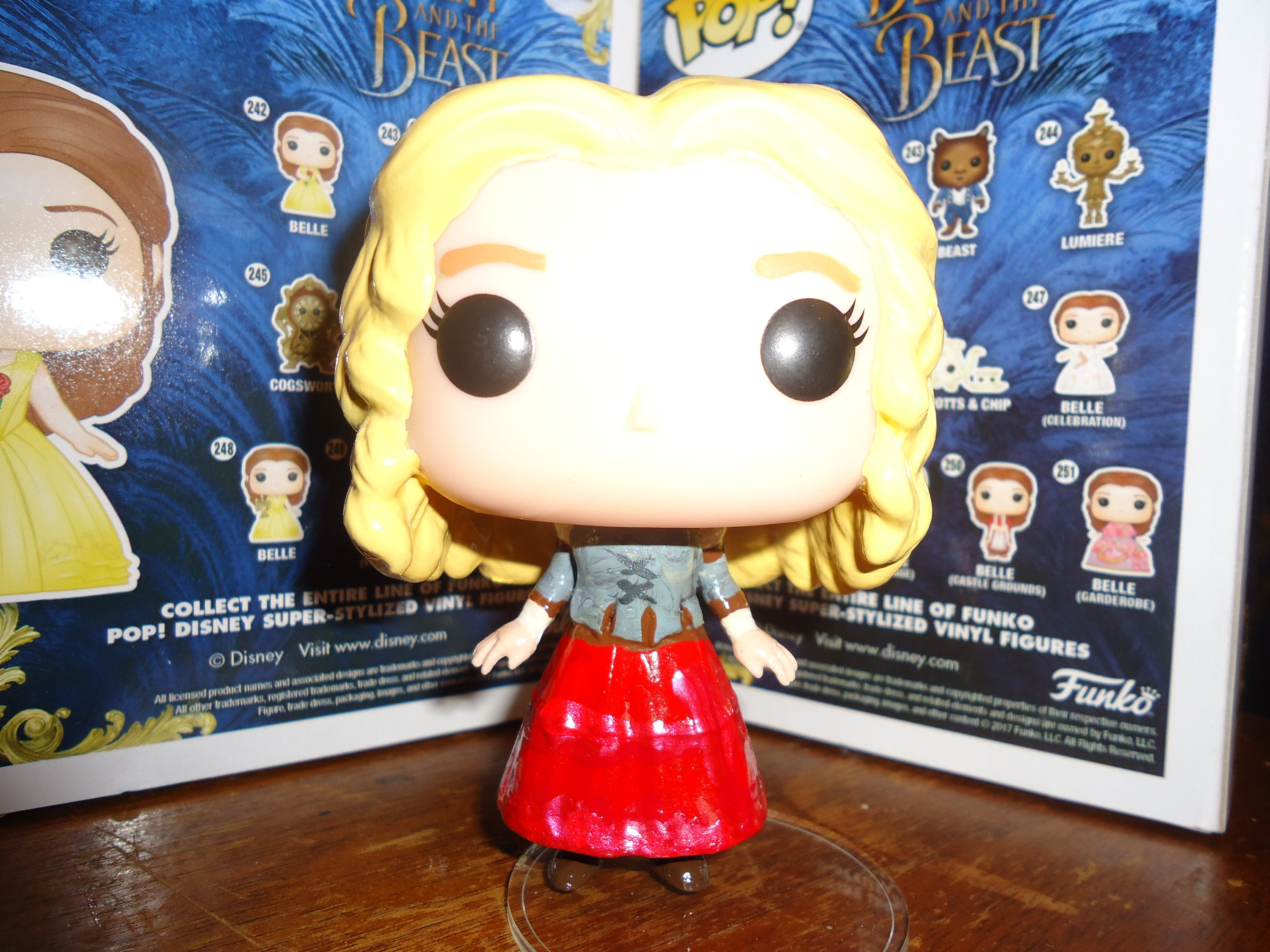 Once Upon a Time Alice Jones Fairy Tale Land Red Skirt Custom Funko