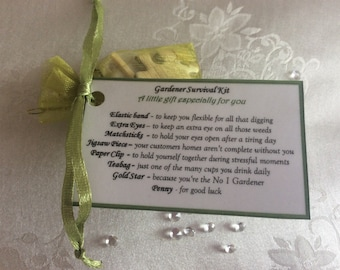 Novel Thank You Gift For Gardener Survival Kit Birthday Fathers Day Dad Grandad Gents Men Who Have Everything Present