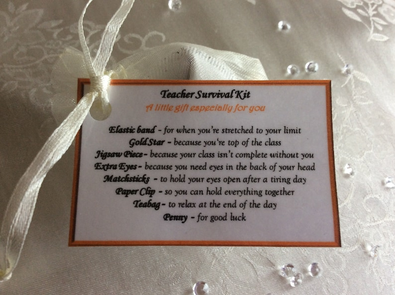 A Unique Fun Novelty Gift//Secret Santa Head Teacher/'s Survival Kit