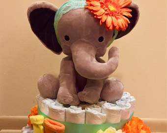 Ellie Elephant Diaper Cake