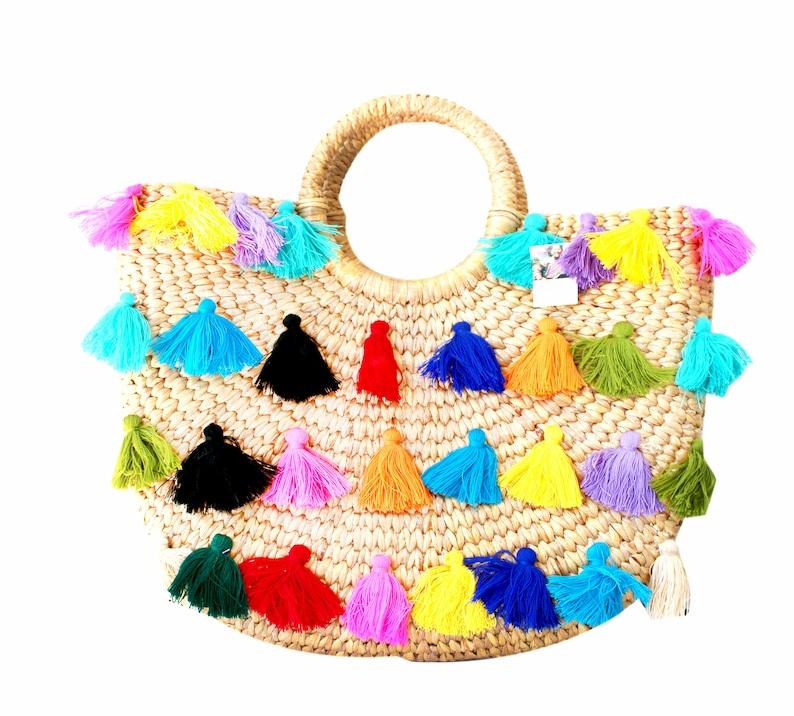 1da98fbd6867c0 Artisan Natural Rattan Material BOHO Hand Bag / Straw Bag / | Etsy