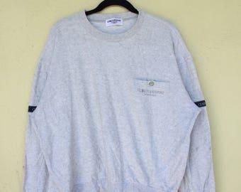 b8ca8ecfd2b CERRUTI 1881 SPORT By Nino Cerruti Italian Designer Crew Neck Pocket  Sweatshirt Cerruti Sport Clothing Size Large