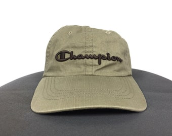 c65da0e692c CHAMPION AUTHENTIC APPAREL Hat Cap Embroidery Spell Out Big Logo Hat Cap  Champion Size Fits All Adjustable