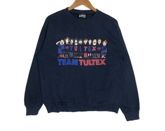 466a087b23c5 Vintage!TEAM TULTEX Printed Graphic Sweatshirt Vintage Tultex Crew Neck  Sweatshirt Unisex Clothing Size Medium