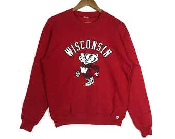 d6641736 Vintage!WISCONSIN WILDCATS American Football Club Spell Out Big Logo Wisconsin  Badgers Mascots Fans Sweatshirt Clothing Size Medium